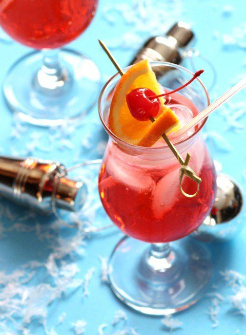 Cherry Bomb by Noshing With The Nolands, it a fun drink for the holidays and New Year's Eve!!
