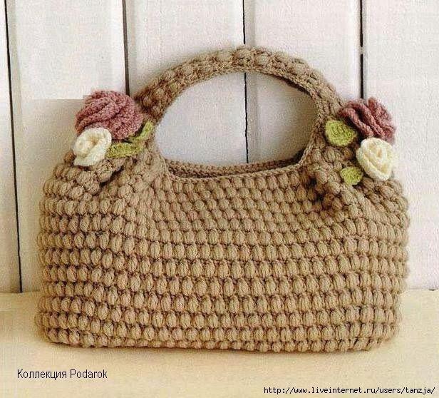 DIY : Sac au crochet༺✿ƬⱤღ http://www.pinterest.com/teretegui/✿༻