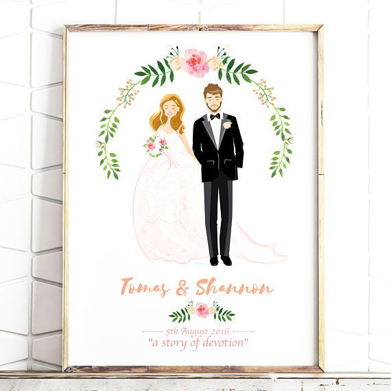 Hello, this listing is for an original couples illustration. These custom portraits make great engagement, wedding or anniversary presents!  You provide a couple of photographs & I do the rest, if your Wedding hasnt happened yet its no problem just send me an Etsy Message and I will