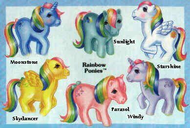 G1 My Little Pony Rainbow Ponies series.