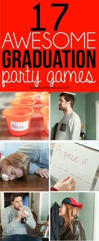 Looking for things to do at a graduation party? These graduation party games are some of the best ideas ever! They're perfect for college, high school, or even an 8th grade graduation party! We are definitely trying out these fun minute to win it games at