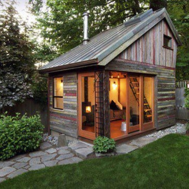 reclaimed wood shed wowwood from three old oregon barns now makes up megan leas backyard house a 154 square foot studio with loft