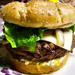 Easy Veggie Burger Recipe   This recipe is super cheap to make and is only 136 cal. 3 g fat, 12 g protein and 4 g sugar.