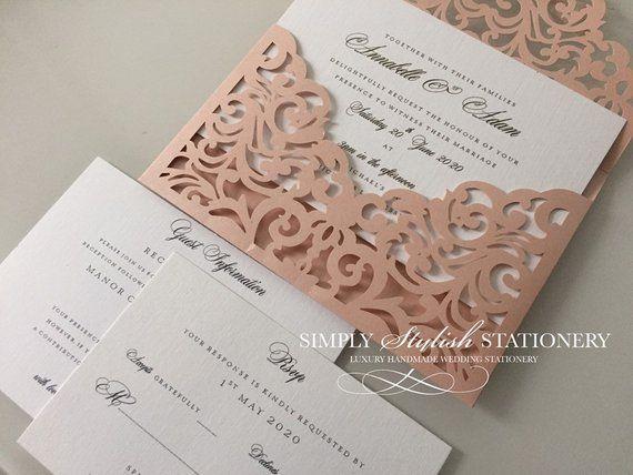 DIY wedding invites CHOOSE A COLOUR Pocket fold Invitations Wallet Cards Craft