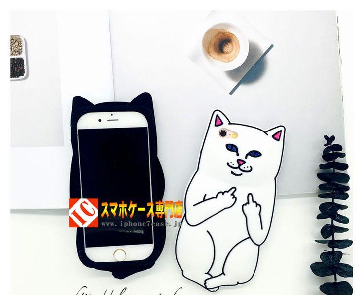 ケースシリコン製ネコ ねこ キャット 白携帯カバースマホケース6plus黒5sソフトケース