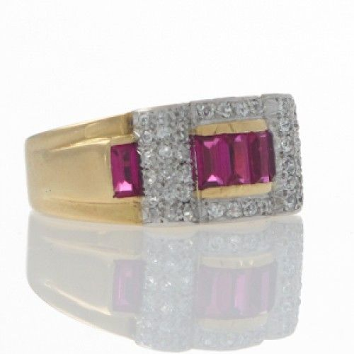 A Retro ruby and diamond ring. Circa 1940's. #Rutherford #Melbourne