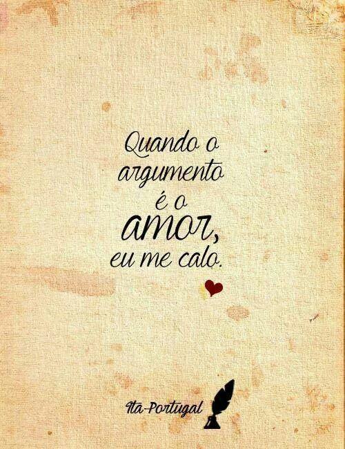 E tem como não se calar? O amor é a resposta para (quase) tudo!