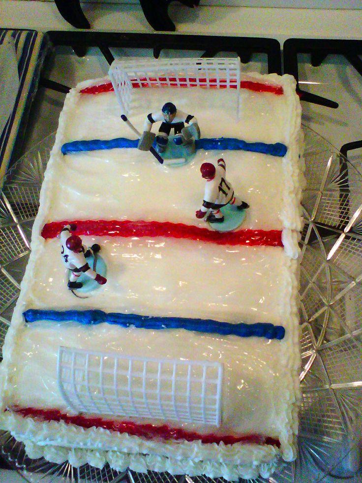 Ice Hockey Rink Cake My Cake Creations Pinterest Ice ...