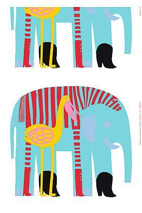 Karkuteillä HW cotton fabric by Marimekko