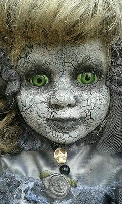 halloween prop porcelain doll gothic bride doll - Scary Props
