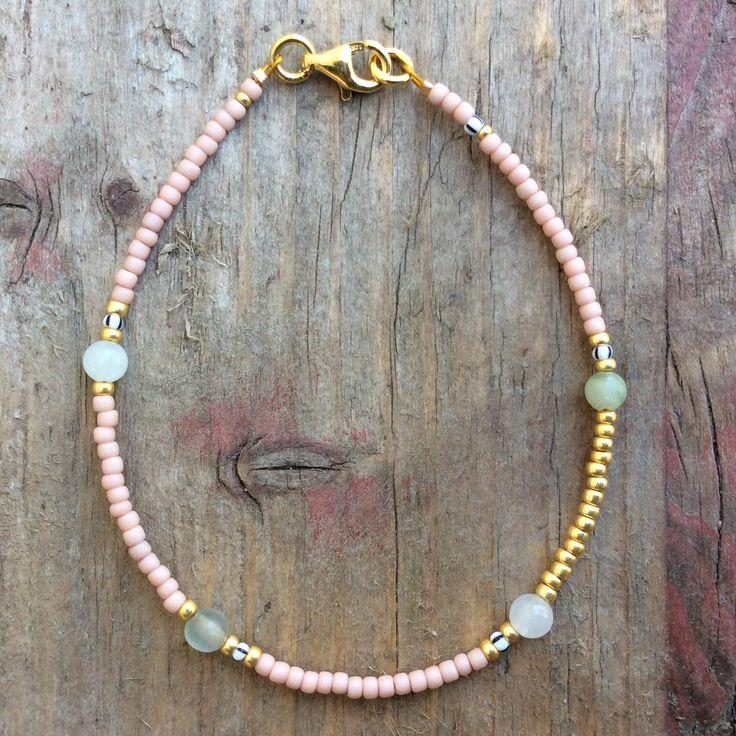 each❤️lyday - Armband ❤️ BABYLON BLUSH mit Jade Perlen