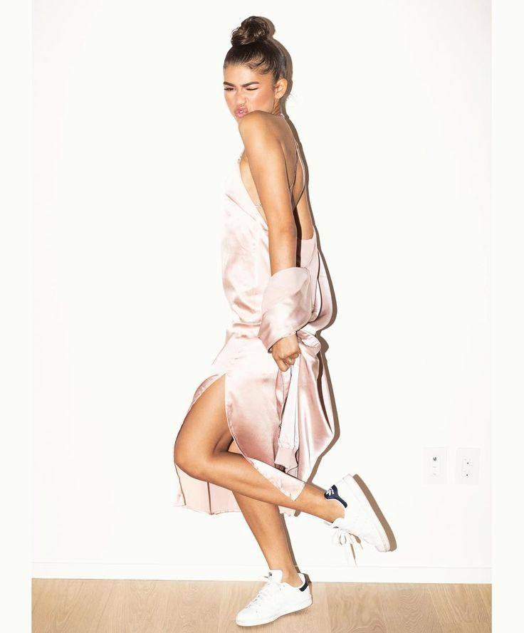 #zendaya: Blush slip dress and silk bomber available now on dayabyzendaya.com