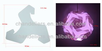Source 2014 new design iq lamp shade puzzle lamp jigsaw lamp infinity lights puzzle light on m.alibaba.com