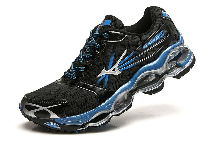 2013 mens Tenis Mizuno Wave Prophecy 2 Masculino running shoes black blue