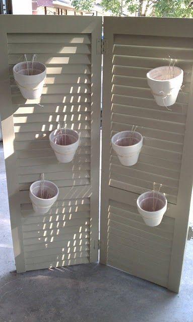for Ali's patio to hide airconditioner    Shutter Screen Planter
