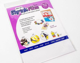 "White InkJet Shrink Film by Grafix, 8.5"" x 11"", 6/Pkg - door printer bedrukbare krimpfolie"