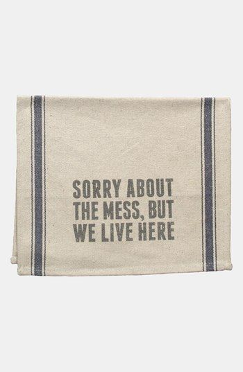 We Live Here Dish Towel