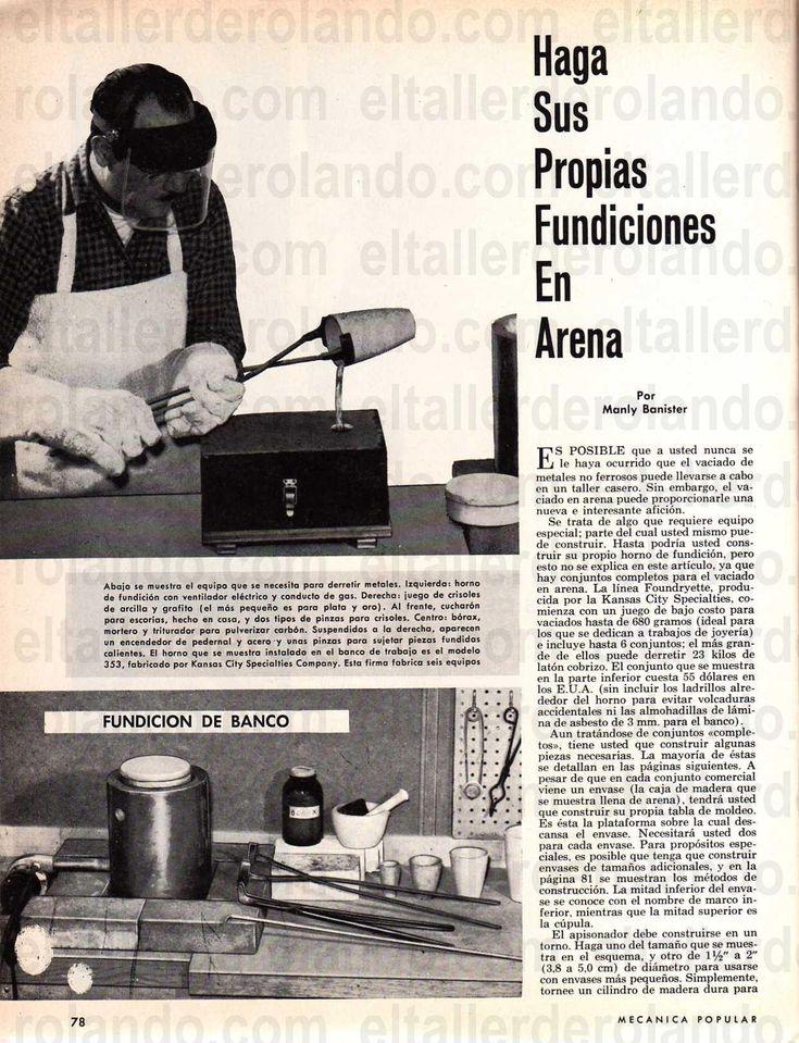 HAGA SUS PROPIAS FUNDICIONES EN ARENA MAYO 1964 001 copia