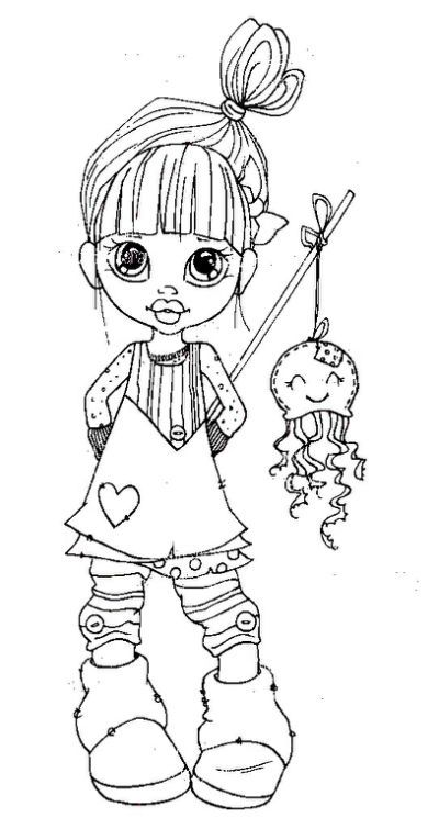 Saturated Canary | Digi Stamps... | dolls | Pinterest | Digi stamps ...