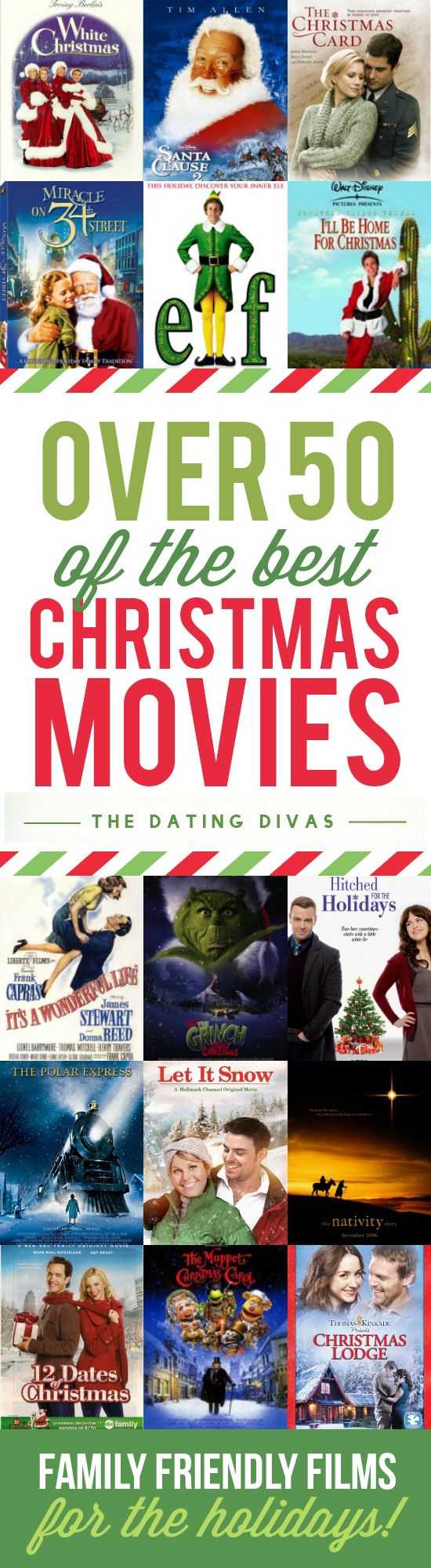 50 of the best Christmas movies all in one place! These are family-friendly films that are perfect for the holiday season. I think it's time for a Christmas Movie Marathon - who's with me?                                                                                                                                                                                 More