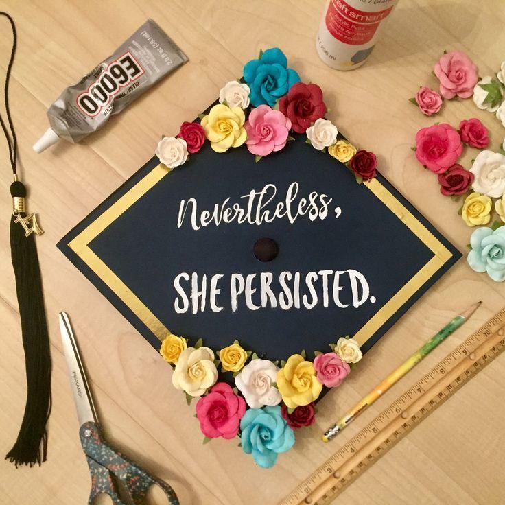 Nevertheless, she passed Graduation Cap Decoration CSUSB (Instagram: @TaniaJazmin) - #ataniajazmin #csusb #decoration #graduation