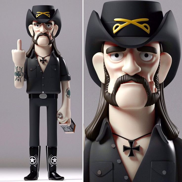 #riplemmy #lemmy #motörhead #fanart #kibooki This is a just tribute. Not a commercially available figure.