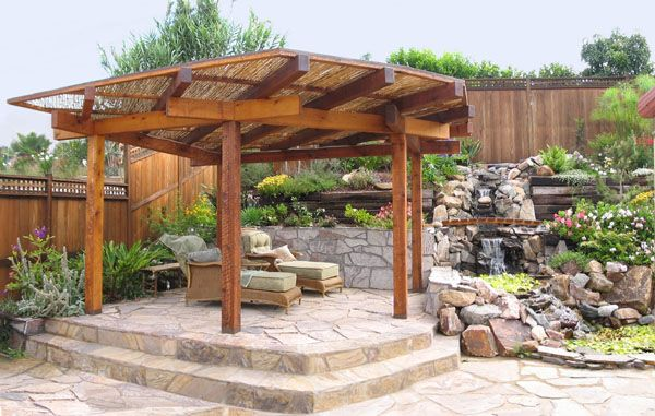 Japanese shade structure garden ideas pinterest for Pond shade ideas