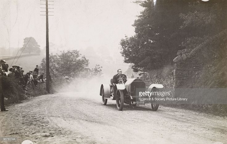 Photograph by H Wade showing a competitor in a motoring competition organised by the Yorkshire Automobile Club at Pateley Bridge, Yorkshire, on 13th September 1913.