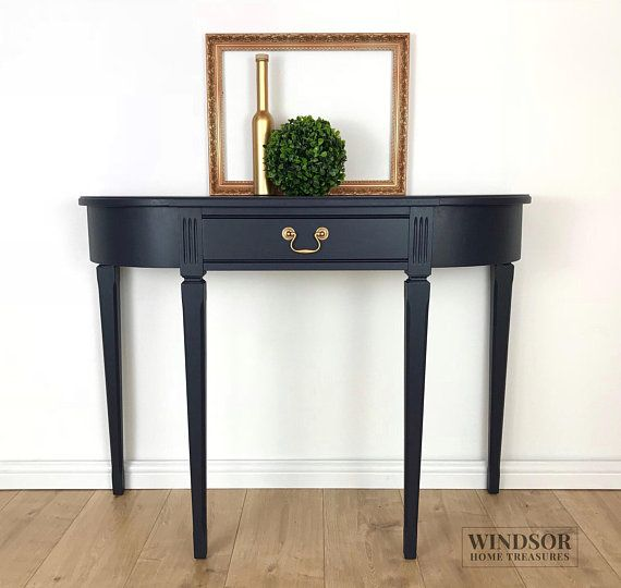 Navy Blue Console Table Blue Side Table Blue Sofa Table Blue