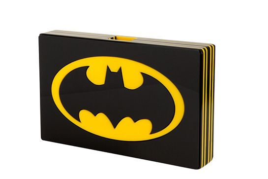 Colette Meets Comic-Con In A Collab For The Ages #refinery29  http://www.refinery29.com/2014/09/74575/batman-anniversary-colette-collection#slide2  Yazbukey clutch, available at Colette October 27.