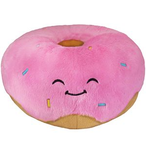 Squishy Squooshems Cuddle Plush Pillow : Squishable Pink Donut! A sweet pastry friend for you to cuddle! #squishable #pink #donut New ...