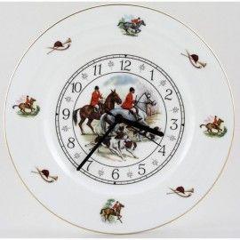 Hunt Scene 1 - Staffordshire China Clock