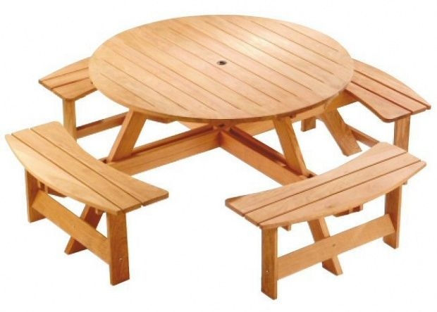 25+ Best Ideas About Round Picnic Table On Pinterest