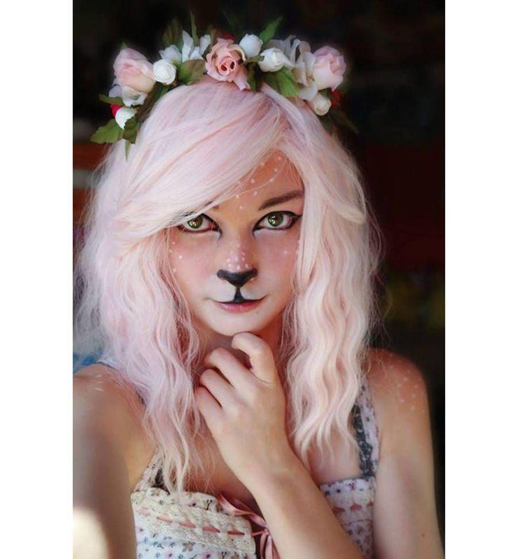 Maquillage d'Halloween : la biche arty