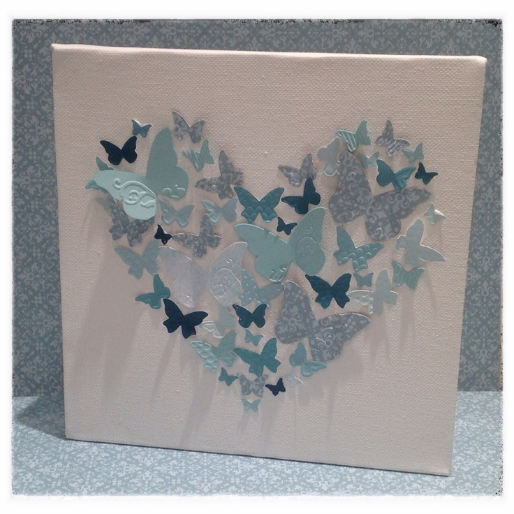 3D papercrafts, Handmade Gifts, Stampin Up Beautiful Wings Embosslits