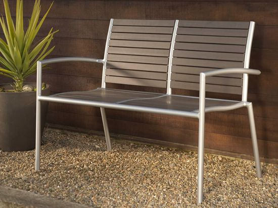 **** Scandinavian Designs - Outdoor Furniture - Ticari Outdoor Bench. $219 on sale.  Use with dining table, plus 2 separate chairs - with arms or without.