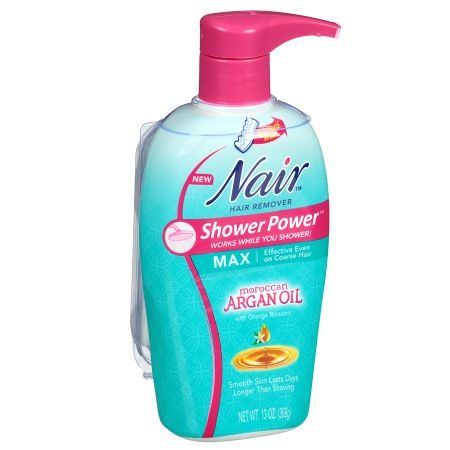 Nair Shower Power Max with Moroccan Argan Oil, Cream for Legs & Body - 13 oz.