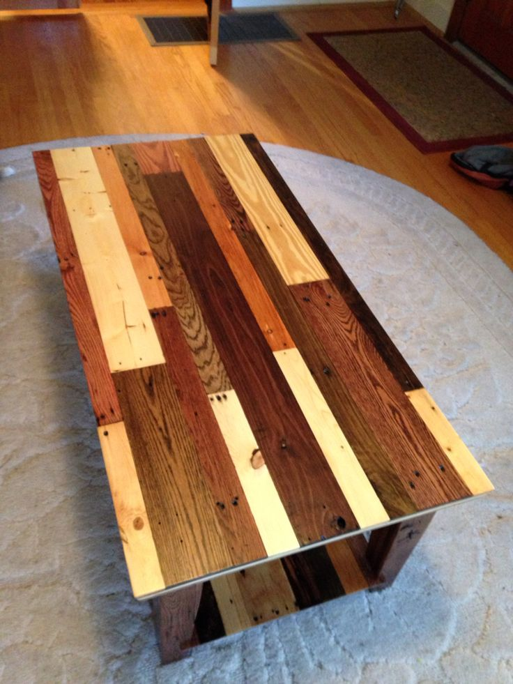 Coffee Table Made From Pallet Wood Top View Pallet