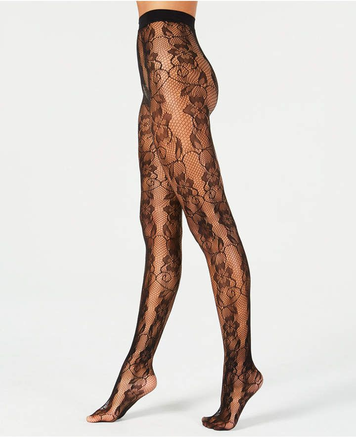 a80a7640d43 Fishnet Floral Lace Fashion Tights in 2019