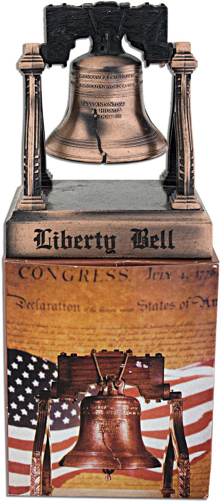 BLPH8 Diecast Liberty Bell with Stand Boxed