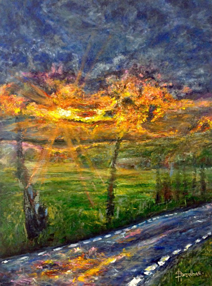"""Scroll. 30""""x40"""" oil on canvas. Josh De Pasquale work in progress"""