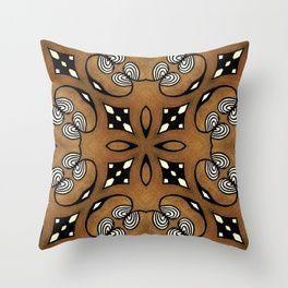 Cocoa Brown Throw Pillow