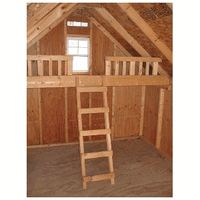 Playhouse DIY kit Little Cottage Loft 10-12-W 10x12 Loft for wood playhouse $275 +$150 shipping