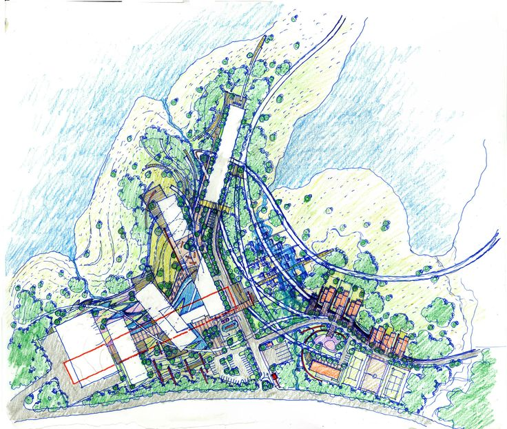 First Sketch for the KPS institutional Complex, 2013 / giD&Partners Landscape & Masterplaning