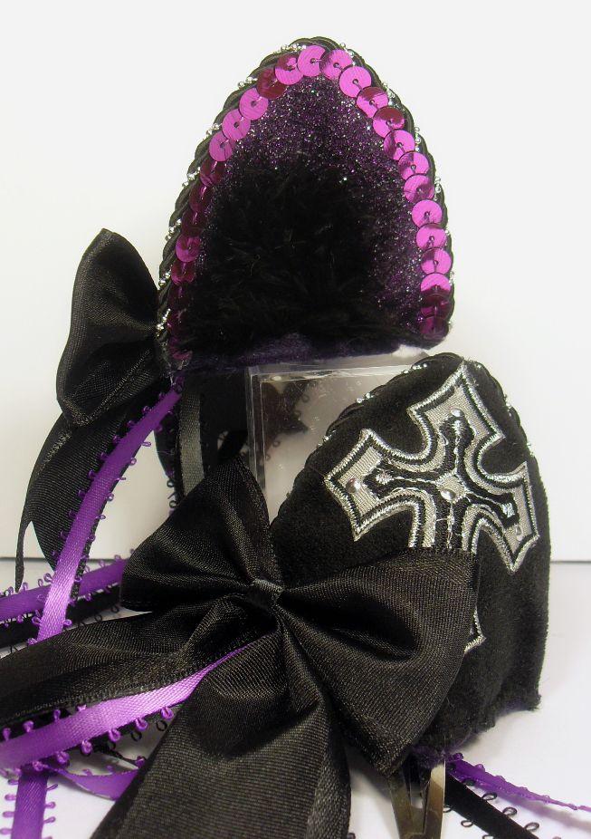 Фиолетовый готический крест кошачьи уши на jezebelwitch