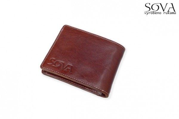 Pánská peněženka kožená TRE, pro leváky, Marrone - Kliknutím zobrazíte detail obrázku.