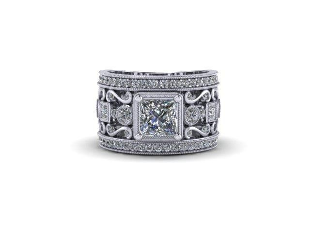 Custom Design Engagement Ring With Side Stones – Dana's Goldsmithing