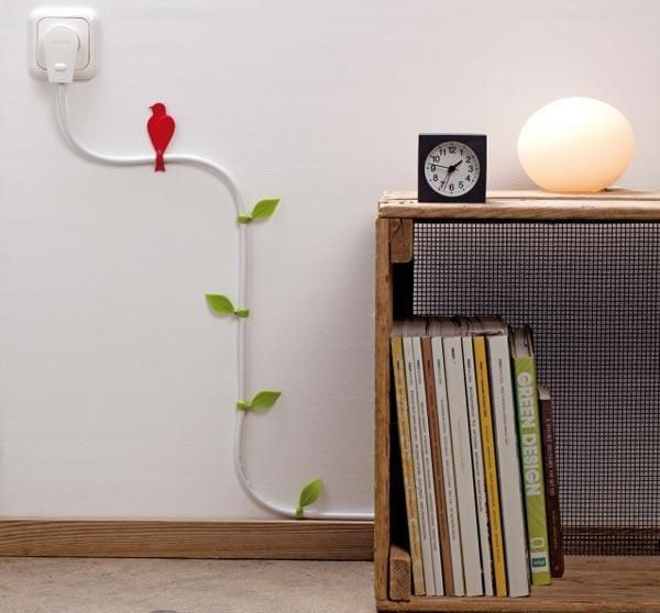 Image result for ways to hide extension cords