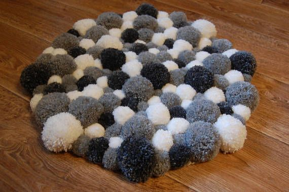 Rug Made Of Soft Pom Poms Will Be A Centerpiece Of Your Bedroom At The Same Time The Rug Is Very Soft And Fluffy Exactly What Yo Pom Pom Rug Rugs