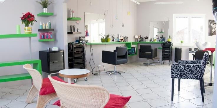 Interiér vlasového studia Scissors Příbram